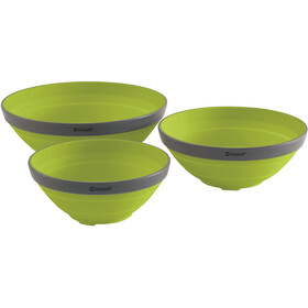 Outwell Collaps Zestaw misek, lime green